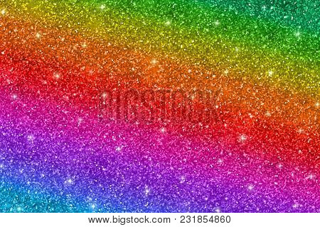 Horizontal Multicolored Glitter Texture, Abstract Background. Vector