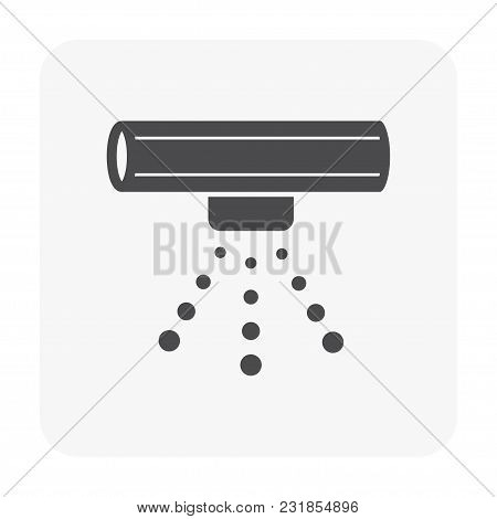 Water Sprinkler Icon Isolated On White Background.