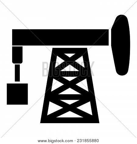 Petroleum Pump Icon Black Color Vector Illustration Flat Style Simple Image