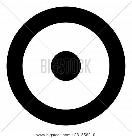 Symbol Sun Icon Black Color Vector Illustration Flat Style Simple Image