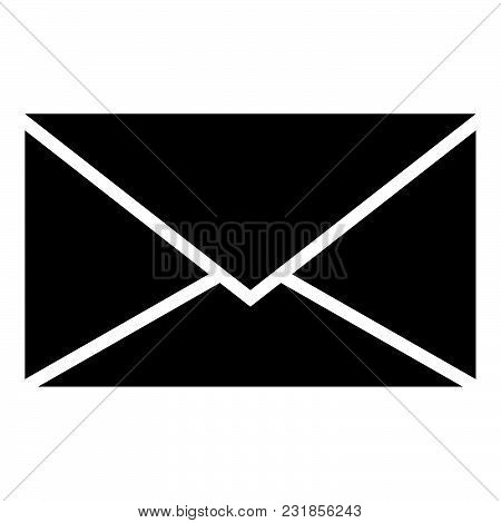 Letter Icon Black Color Vector Illustration Flat Style Simple Image