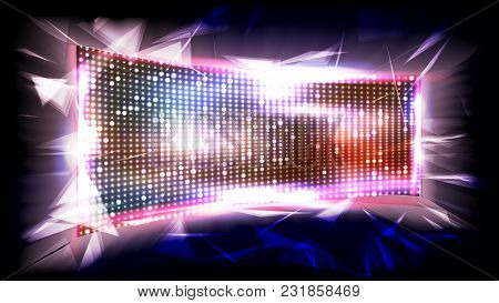 Screen Led Vector. Bright Monitor. Club Disco Screen. Illustration