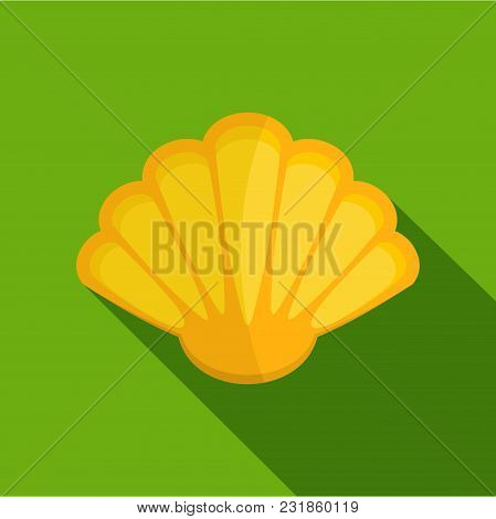 Nice Shell Icon. Flat Illustration Of Nice Shell Vector Icon For Web