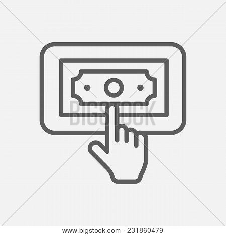 Ppc Icon Line Symbol. Isolated Vector Illustration Of  Icon Sign Concept For Your Web Site Mobile Ap