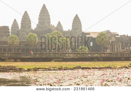 Isolated Of Ankor Wat, Siem Reap, Cambodia