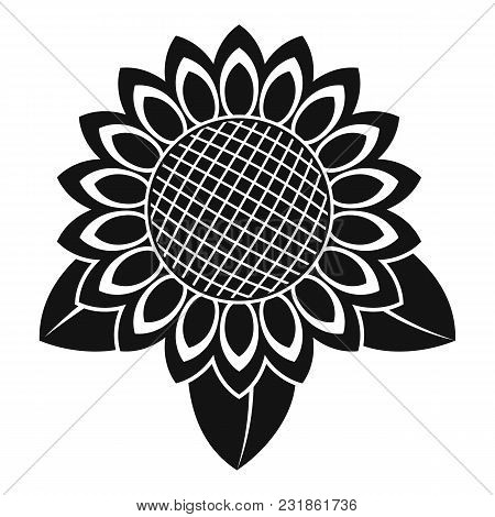 Sunflower Leaf Icon. Simple Illustration Of Sunflower Leaf Vector Icon For Web