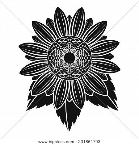 Natural Sunflower Icon. Simple Illustration Of Natural Sunflower Vector Icon For Web