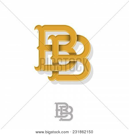 Double B Monogram. B And B Crossed Letters, Intertwined Letters Initials.