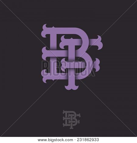 B And F Monogram. B And F Crossed Letters, Intertwined Letters Initials.