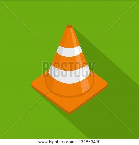 Alert Cone Icon. Flat Illustration Of Alert Cone Vector Icon For Web