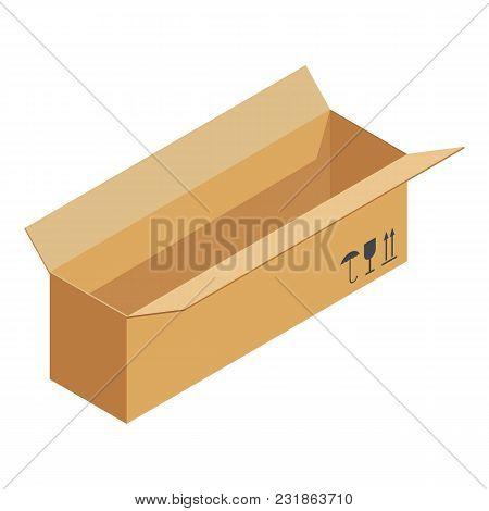 Deliver Box Icon. Isometric Illustration Of Deliver Box Vector Icon For Web