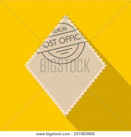 Rhombic Postage Stamp Icon. Flat Illustration Of Rhombic Postage Stamp Vector Icon For Web