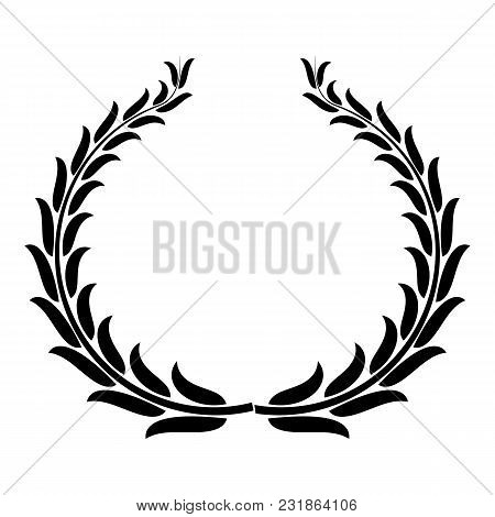 Winning Wreath Icon. Simple Illustration Of Winning Wreath Vector Icon For Web