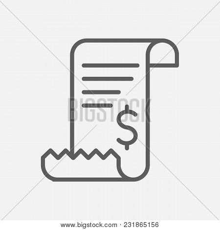 Bill Invoice Icon Line Symbol. Isolated Vector Illustration Of Tax Sign Concept For Your Web Site Mo
