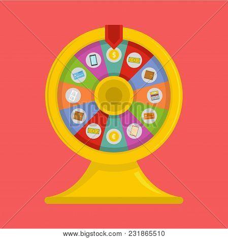 Lucky Wheel Icon. Flat Illustration Of Lucky Wheel Vector Icon For Web