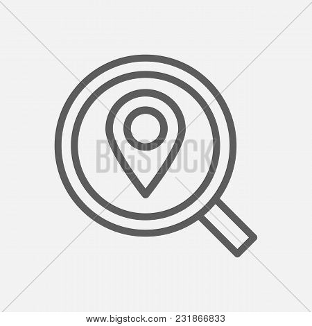 Delivery Location Icon Line Symbol. Isolated Vector Illustration Of Find Address Sign Concept For Yo