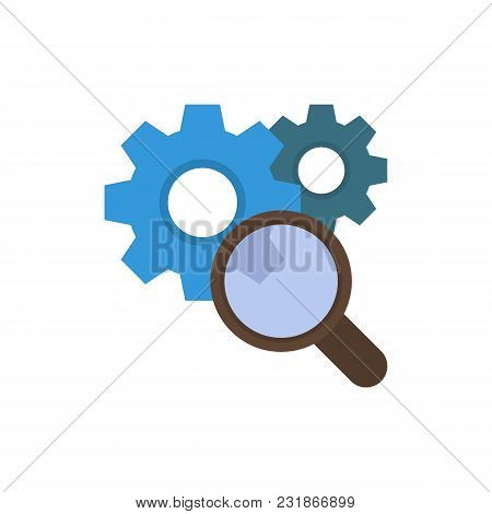Research Icon Flat Symbol. Isolated Vector Illustration Of Search Sign Concept For Your Web Site Mob
