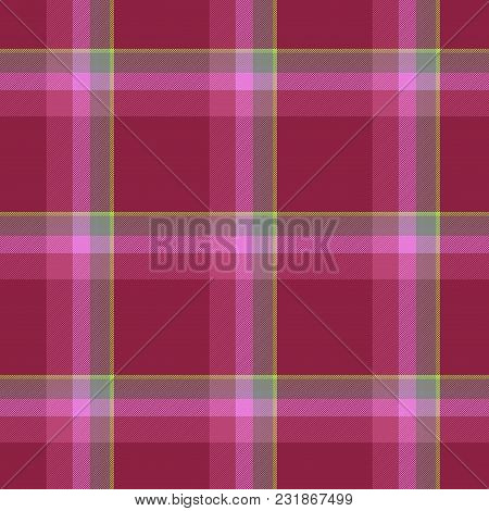 Seamless Traditional Scottish Colourful Tartan Fabric / Cloth Background Or Texture