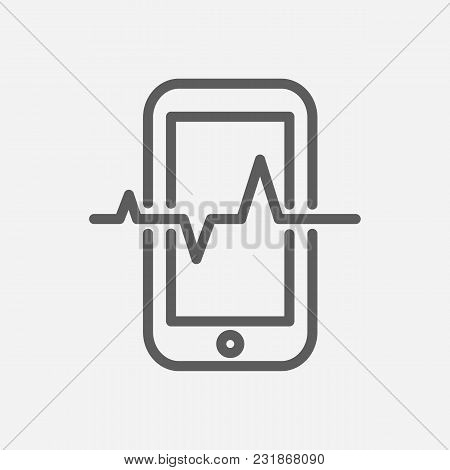 Mobile Traffic Icon Line Symbol. Isolated Vector Illustration Of Telephone Sign Concept For Your Web