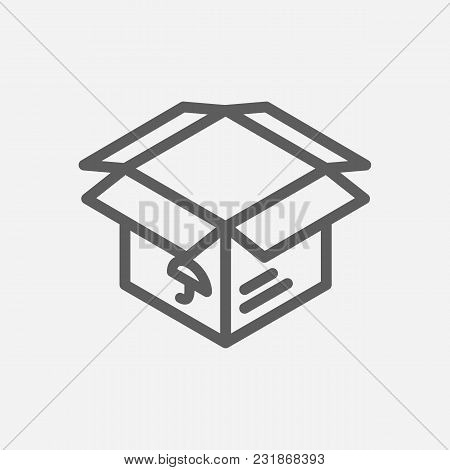 Delivery Box Icon Line Symbol. Isolated Vector Illustration Of Parcel Sign Concept For Your Web Site