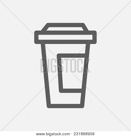 Coffee Icon Line Symbol. Isolated Vector Illustration Of Takeout Caffeine Sign Concept For Your Web