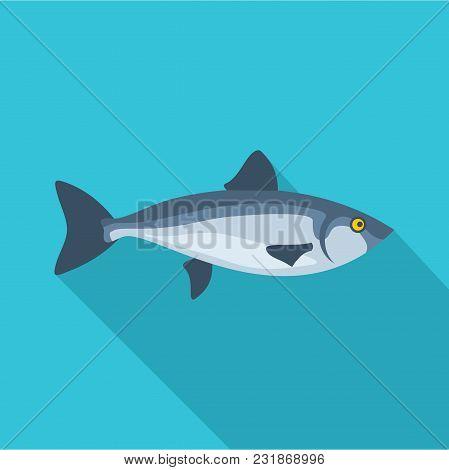 Ocean Fish Icon. Flat Illustration Of Ocean Fish Vector Icon For Web