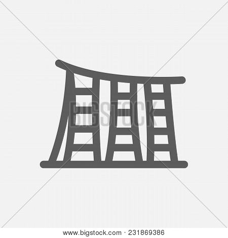 Travel City Series. Symbol Of Country Singapore City Icon. Isolated Vector Illustration Of Singapore