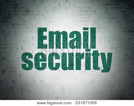 Security Concept: Painted Green Word Email Security On Digital Data Paper Background
