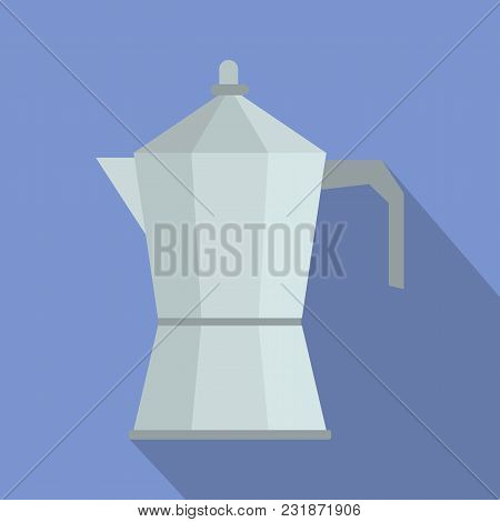 Kettle Icon. Flat Illustration Of Kettle Vector Icon For Web