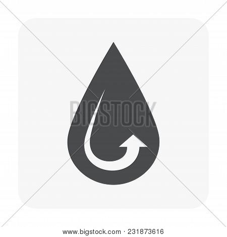 Water Treatment Icon Isolated On White Background.