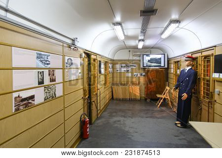 Zagreb, Croatia - December 13th, 2017: Advent Time At The Croatian Railway Museum In Zagreb.interior