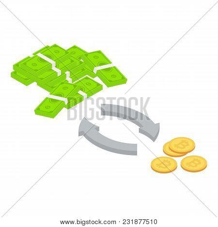 Exchange Icon. Isometric Illustration Of Exchange Vector Icon For Web