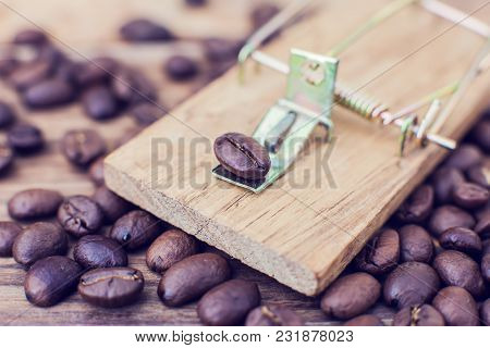 Mousetrap coffee caffeine coffee addiction dependency heart danger poster