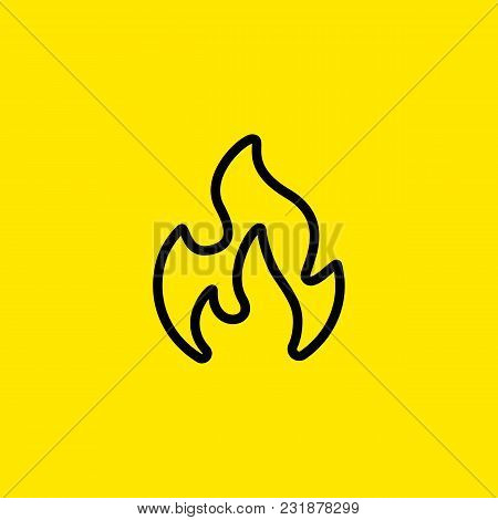 Icon Of Fire. Flame, Blaze, Bonfire. Energy Concept. Can Be Used For Topics Like Warning, Inflammati