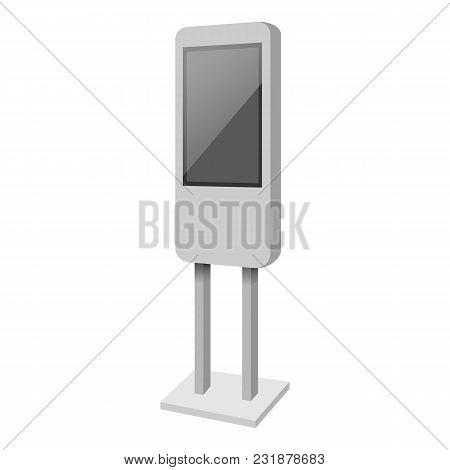 Standing Display Mockup. Realistic Illustration Of Standing Display Vector Mockup For Web