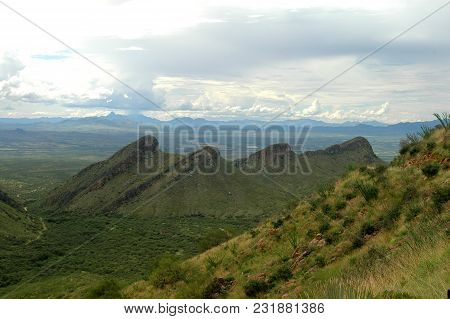 A View From High In The Mountains Of The Southwestern United States.