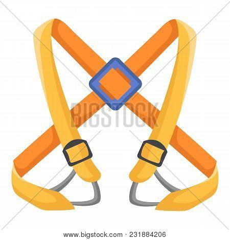 Climbing Belt Icon. Flat Illustration Of Climbing Belt Vector Icon For Web
