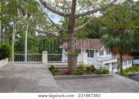Havana, Cuba - February 2,2017: House Finca Vigia Where Ernest Hemingway Lived From 1939 To 1960.fro