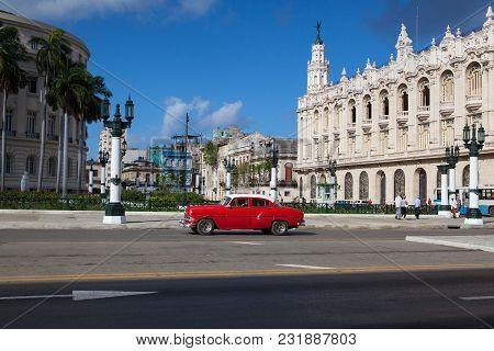 Havana, Cuba - January 21,2017: The Great Theatre Of Havana, In Havana, Cuba.the Theatre Has Been Ho