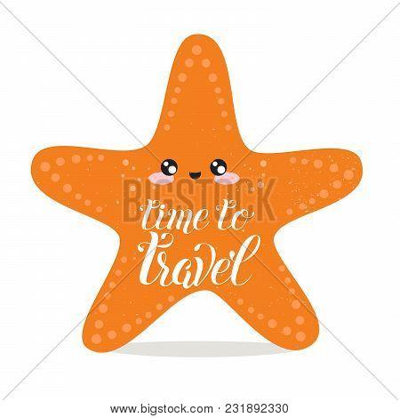 Vector Cartoon Sketch Starfish Illustration