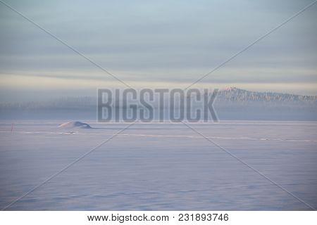 Arctic View Over The Lake Menstraesket In Vaesterbotten, Sweden