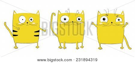 Vector Cartoon Sketch Funny Cat Illustration