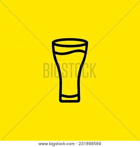Icon Of Beer Glass. Pint, Mug, Ale. Beer Concept. Can Be Used For Topics Like Bar, Pub, Festival