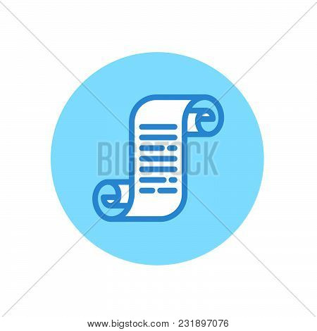 Roll Of Paper Illustration. S Monogram Like A Scroll. List Icon. Scroll Icon. Document And Diploma.
