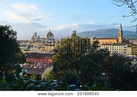 View Of Florence Before Sundown In The Autumn.