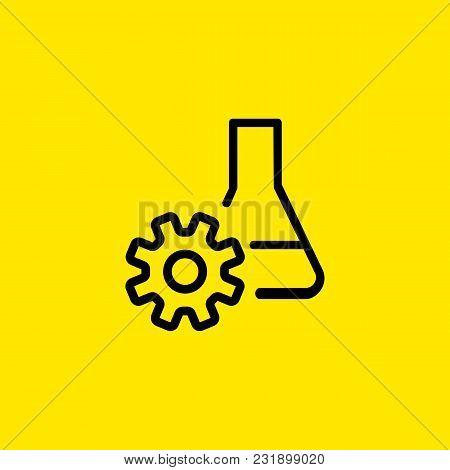 Icon Lab Flask Gear Vector Photo Free Trial Bigstock