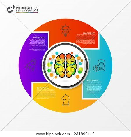 Infographic Design Template. Business Concept With 4 Steps. Vector Illustration