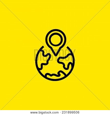 Line Icon Of Local Seo Symbol. Country, Destination, Location. Travel Concept. Can Be Used For Maps,
