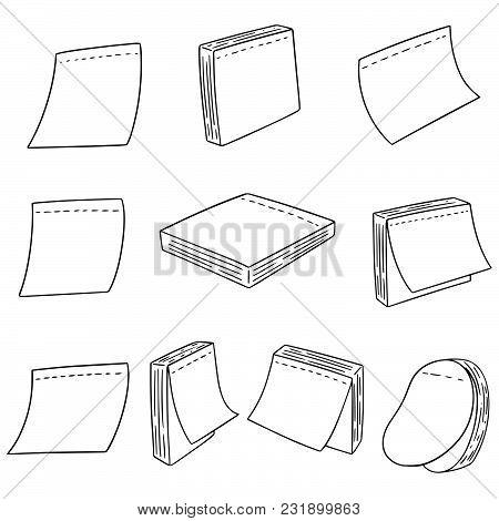 Vector Set Of Memo Note Hand Drawn Cartoon