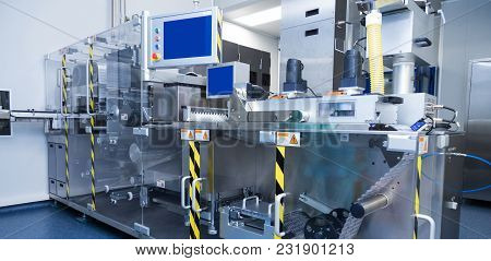 Pharmaceutical Equipment Sterile Working Conditions At Pharmacy Industry